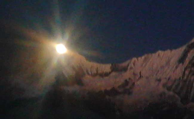 Moonrise in Annapurna Base Camp