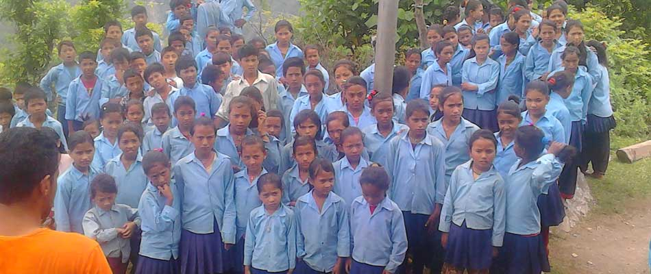 Helping remote area Dalit Students