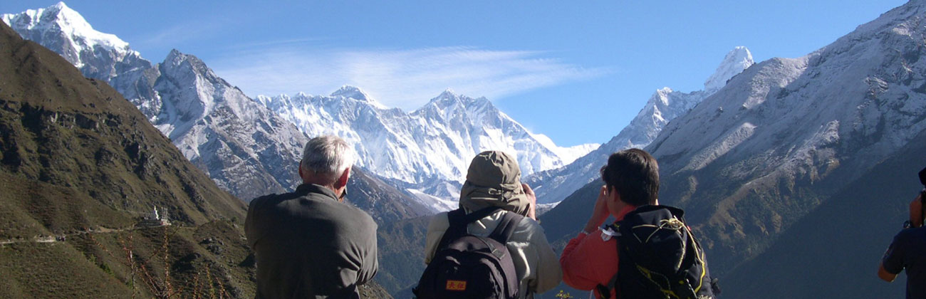 Everest Trekking - View from Namche