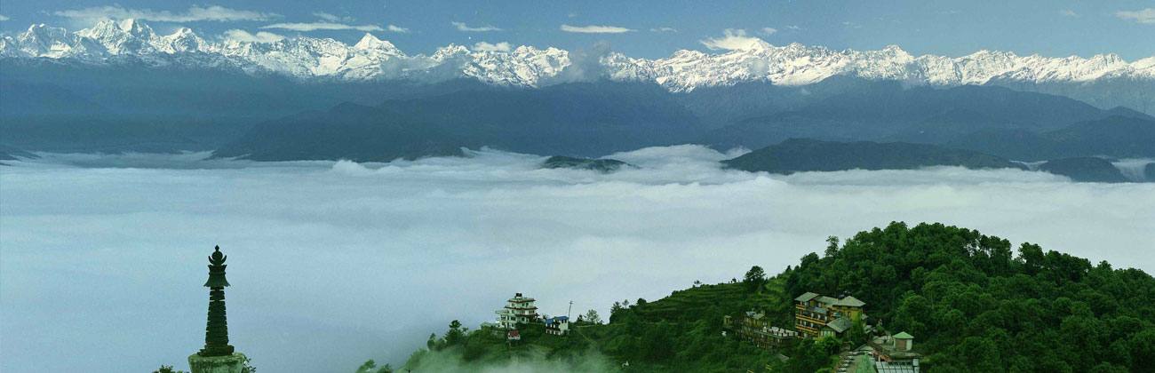 Nagarkot sunrise tour - View from Nagarkot